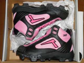 360 REV D Softball Baseball Cleats Mid Black/Pink Womens 6.5