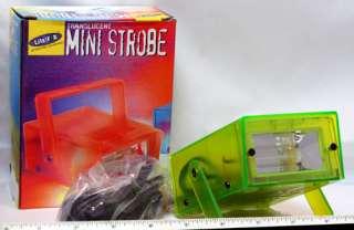 LOT 2 DISCO DJ LIME GREEN & RED MINI STROBES STROBE LIGHT VAR FLASH