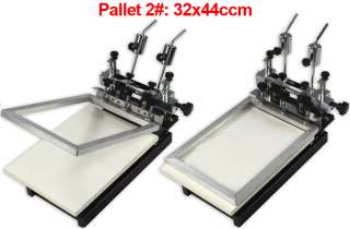 Color Screen Printing Machine 3 Pallets Fine Adjustable Silk