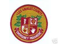LOS ANGELES COUNTY CALIFORNIA FIRE PARAMEDIC PATCH
