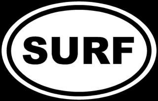 SURF Sticker Water Sports Vinyl Car Window Decal Laptop