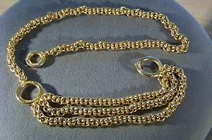 YELLOW GOLD TONE PALOMA PICASSO MULTI CHAIN WOVEN LINK BOLD BELT