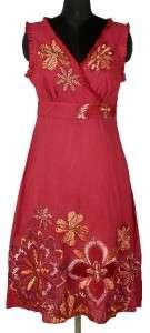 Floreat Anthropologie Floral Embroidered Lace Cotton Dress Medium M 6