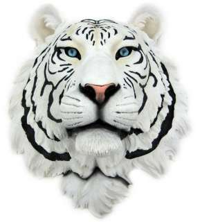 White Tiger Head Mount Wall Statue Bust
