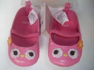 GYMBOREE Girl Outfit Pink Orange Owl Stripe Dress Onesie Ruffle Shoes