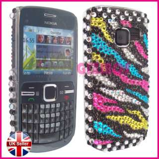 BLING DIAMOND CRYSTAL DIAMANTE CASE COVER FOR NOKIA C3