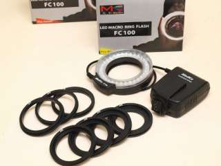 Meike Macro Ring Flash LED Light for Nikon D3100 D7000 D300X/Sony +3