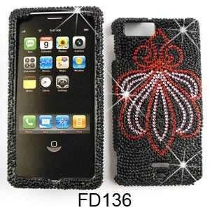 MB810 Full Diamond Crystal, Lotus on Black Full Rhinestones/Diamond