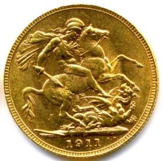 1928 SA GEORGE V FULL GOLD SOVEREIGN ( LUSTRE)