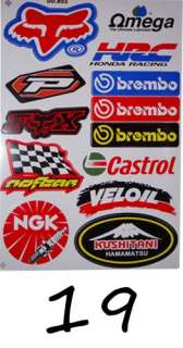 Moto Stickers Tuning ROCKSTAR ENERGY Racing Dirt Kart Velo VTT DAX