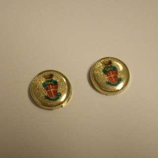 Carabinieri Copri Bottoni Stemma Araldico Oro Giallo 18 kt gr 3,60
