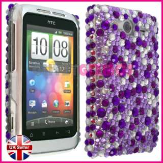 DIAMOND BLING DIAMANTE CASE COVER FOR HTC WILDFIRE S