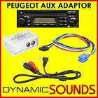 PEUGEOT 206, 307, 406, 607, 807  iPod Aux Input Interface Adaptor