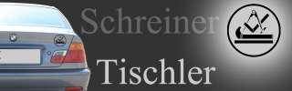 Tischler Schreiner ZunftSymbol Auto Aufkleber Car
