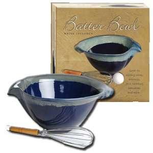 Tumbleweed Pottery Stoneware Dark Blue Batter and Mixing