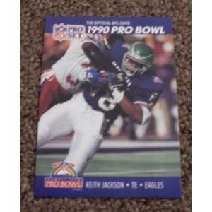 1990 Pro Set Keith Jackson # 396 NFL Football Pro Bowl