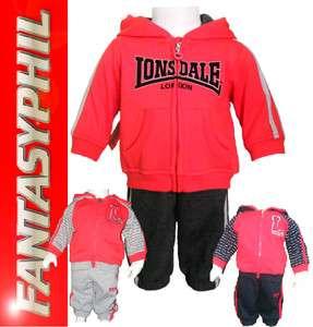 Lonsdale ensemble survêtement jogging garcon bébé Sweat + Pantalon