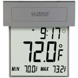 LA CROSSE TECHNOLOGY 306 605 SOLAR WINDOW THERMOMETER