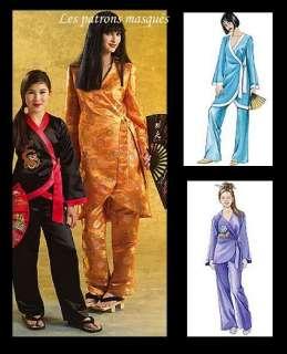 M 5208 Patron couture déguisements asiatiques fille