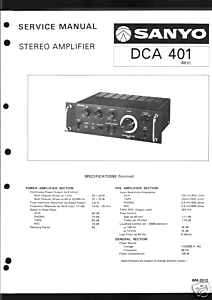 Sanyo Original Service Manual Verstärker DCA 401