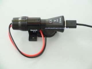 PORTA NAVIGATORE GPS MOTO + presa accendisigari e USB