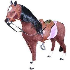 com Toy Fabric horse and saddle for American Girl dolls Toys & Games