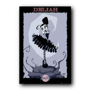 Pin Up Toons Deliah Gothic Fantasy 24X36 Poster 33220 Home & Kitchen