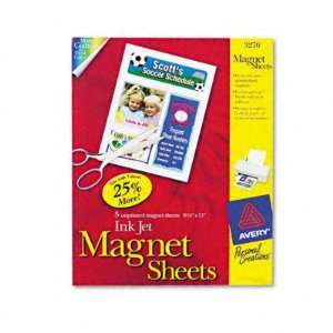 Personal Creations Ink Jet Magnet Sheets   White, 8 1/2 x