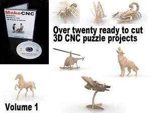 DIY CNC ROUTER 3D PUZZLE PROJECTS plus free bonus kit plans DXF EPS