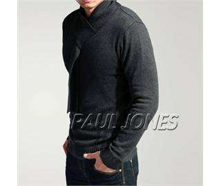 PAUL JONES mens cotton sweater Unique neck US XS,S,M,L NWT BRAND NEW