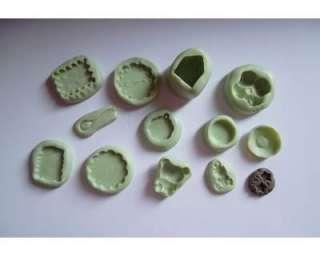 Lotto stampi in silicone per fimo cernit fuwa fuwa paste modellabili