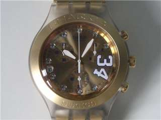 SWATCH IRONY CHRONO  SHAQ 34 GOLD   LIKE NEW