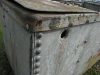 FARM RIVETED GALVANISED TIN WATER TANK TROUGH PLANTER INDUSTRIAL CHIC