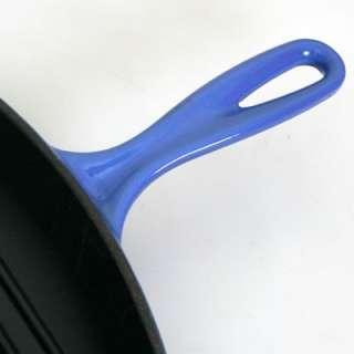Le Creuset Cast Iron Skillet Grill 26cm Cobalt Blue