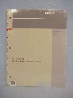 HP 85036B/E 75 Ohm Type N Operating & Service Manual
