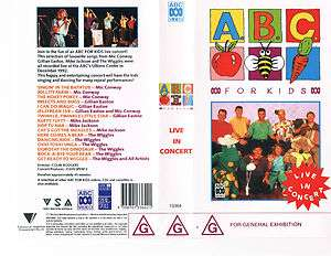 The Wiggles ABC FOR KIDS LIVE IN CONCERT  VHS+DVD b/up