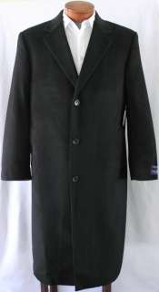 Mens DANIEL CREMIEUX Black Top Coat 100% CASHMERE 46R 46 R NWT