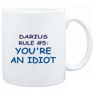 Mug White  Darius Rule #5 Youre an idiot  Male Names
