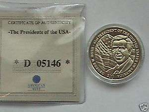 10 President George W Bush Coin with COA, UNC. 2004