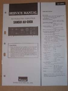 Sansui Service/Repair Manual~AU G90X Amplifier Amp
