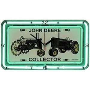 John Deere Antiques Neon Wall Clock SS 08669: Home