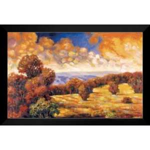 Spring Valley II 28x40 FRAMED Art Print by Martin Mark: Home & Kitchen