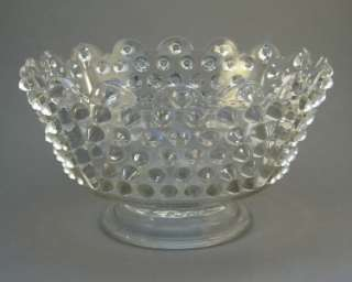 Vintage Hobnail Daisy & and Button Pressed Glass Bowl
