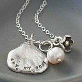 Personalised Petal Charm Necklace   best gifts for her with free