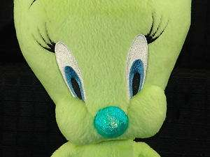 Plush Greeb Shiny Looney Tunes Tweety Bird Stuffed Toy
