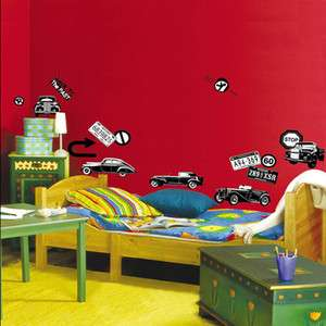 CLASSIC CARS ★ Mural Art Wall Paper Removable Sticker