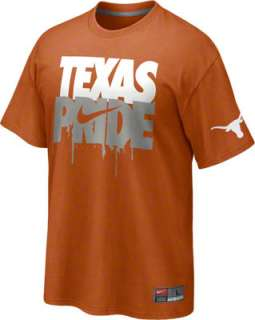 Texas Longhorns Orange Nike Texas Pride T Shirt