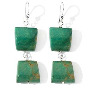 Jay King Green Turquoise Sterling Silver Earrings