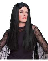 Morticia Adult Wig Wholesale Price $9.90 In Stock Cool 50s Girl Wig