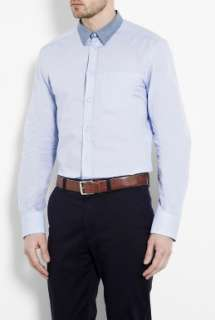 Blue Chambray Collar Slim Brad Shirt by D&G